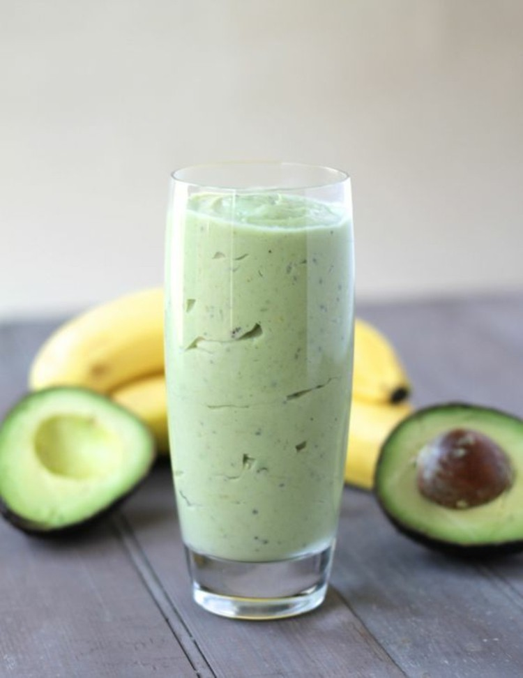 avocado-dishes-homemade-banana-avocado-smoothie